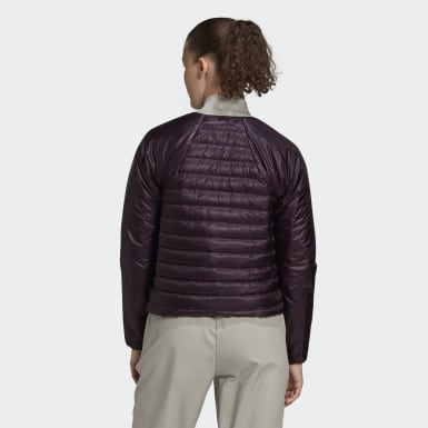Women TERREX Purple Terrex Hike Bomber Down Jacket