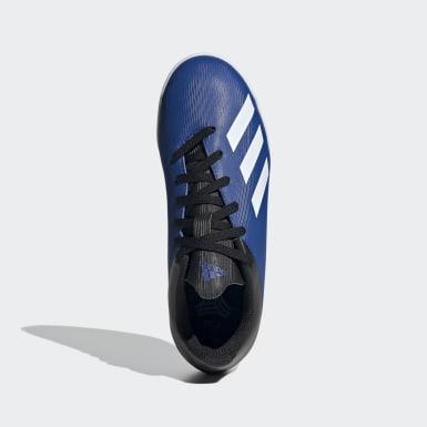 Calzado de Fútbol X 19.4 Bajo Techo Azul Niño Fútbol