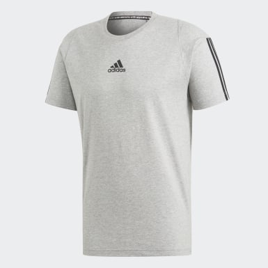 Men Athletics Grey Must Haves 3-Stripes Tee
