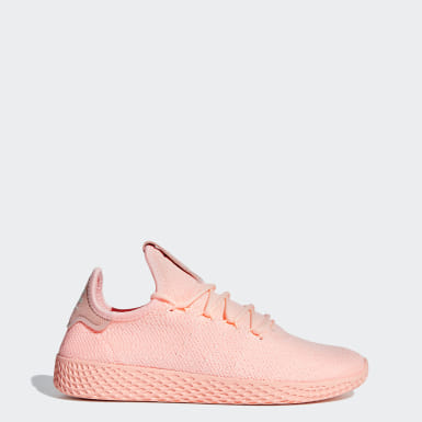 Women Originals Pink Pharrell Williams Tennis Hu Shoes