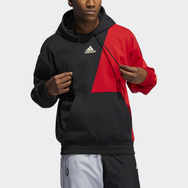 Sweat-shirt à capuche CNY Harden Rouge Hommes Basketball