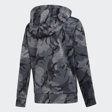 Youth Training Grey Heathered Core Camo Hoodie