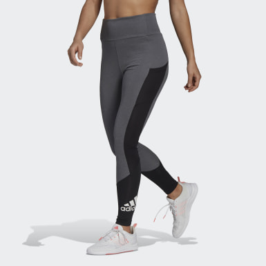 Women Training Grey Designed To Move Big Logo Sport Tights