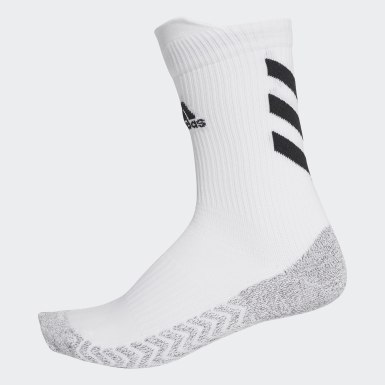 Tennis White Alphaskin Traxion Crew Socks