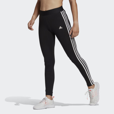 Women Essentials Black LOUNGEWEAR Essentials 3-Stripes Leggings