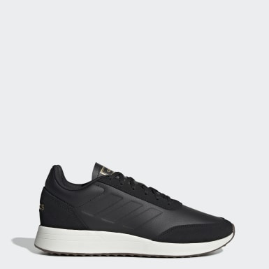 Men Sport Inspired Black Run 70s Shoes