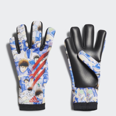 Kids Football White X Captain Tsubasa Goalkeeper Training Gloves