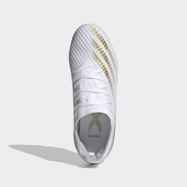 Børn Fodbold Hvid X Ghosted.3 Multi-Ground støvler