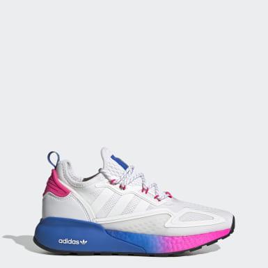Sapatos ZX 2K Boost Branco Mulher Originals