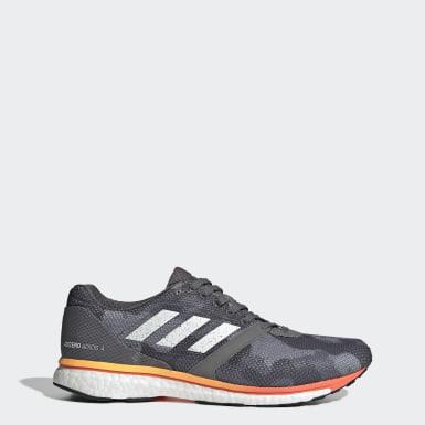 Männer Running Adizero Adios 4 Schuh Grau