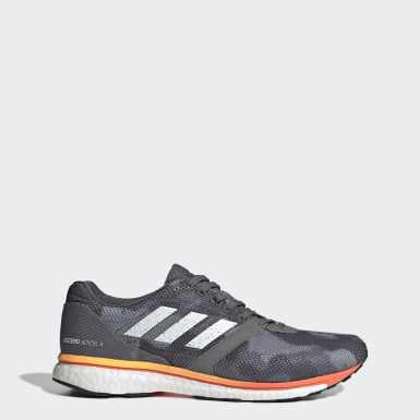 Men Running Grey Adizero Adios 4 Shoes