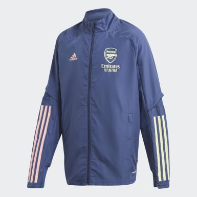 Kids Football Blue Arsenal Presentation Jacket