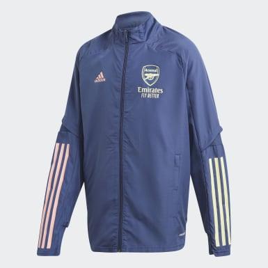 Kinder Fußball FC Arsenal Präsentationsjacke Blau