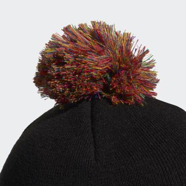 Originals Zwart 3D Adicolor Pompom Beanie