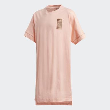 розовый Платье Tiger Loose