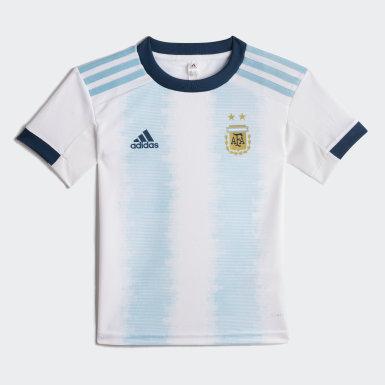 Mini Conjunto Titular Selección Argentina (UNISEX) Blanco Niño Fútbol