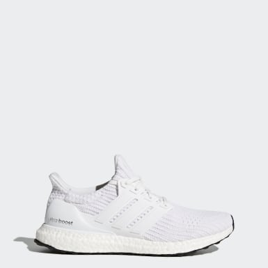 Men Running White Ultraboost Shoes