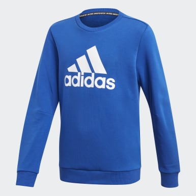 Youth 8-16 Years Training Blue Must Haves Crew Sweatshirt