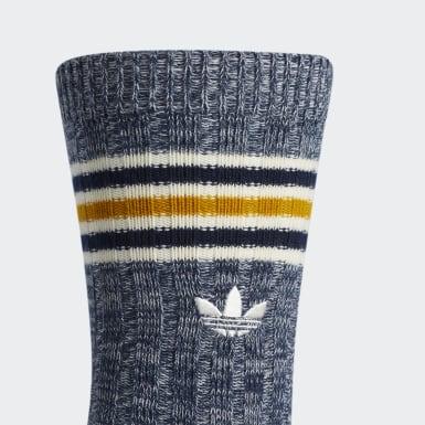 Men's Originals Blue Vintage Ribbed Single Crew Socks
