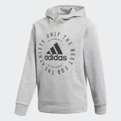 Boys Træning Grå Sport ID hættetrøje
