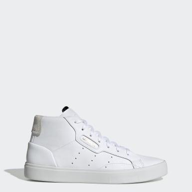 Ženy Originals biela Tenisky adidas Sleek Mid