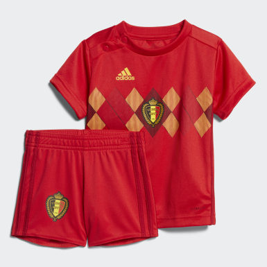 Kids Football Red Belgium Home Infant Kit