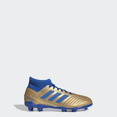 Kluci Fotbal zlatá Kopačky Predator 19.3 Firm Ground