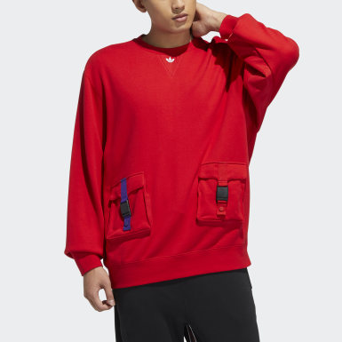 Men's Originals Red LNY Crew Sweatshirt
