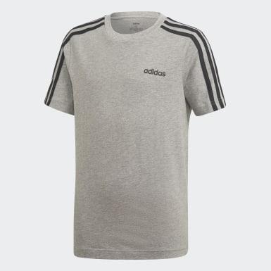 Camiseta Essentials 3 bandas Gris Niño Athletics