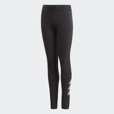 Girls Lifestyle Black Must Haves Badge of Sport Tights