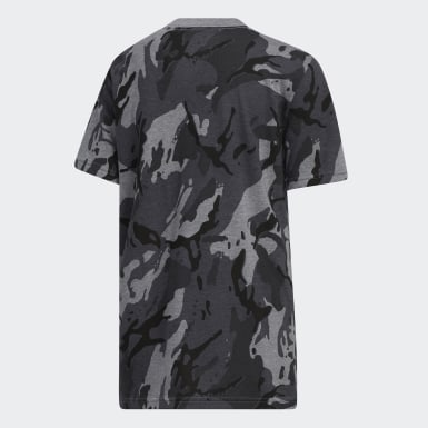 Youth Training Grey Heathered Classic Camo Tee
