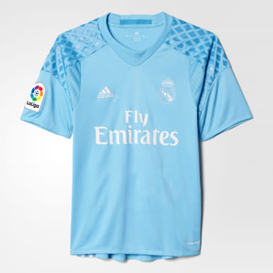 size 40 0e373 23921 adidas Real Madrid Home Goalkeeper Jersey - Blue | adidas UK