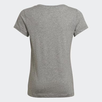 Mädchen Athletics Essentials Linear T-Shirt Grau