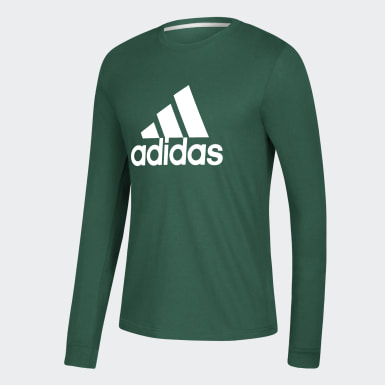 Men's Sport Inspired Green Badge of Sport Tee