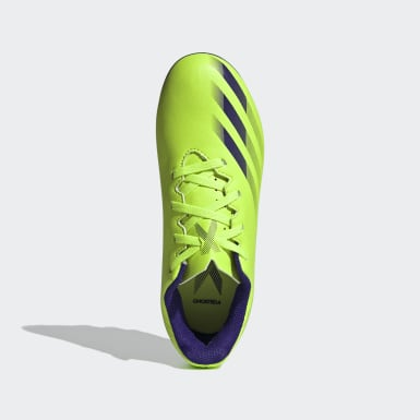 Children Soccer Green X Ghosted.4 Flexible Ground Soccer Cleats