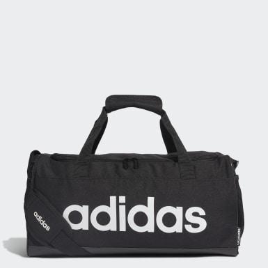 Lifestyle Black Linear Logo Duffel Bag