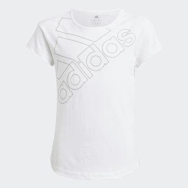 Dívky Athletics bílá Tričko adidas Essentials Logo
