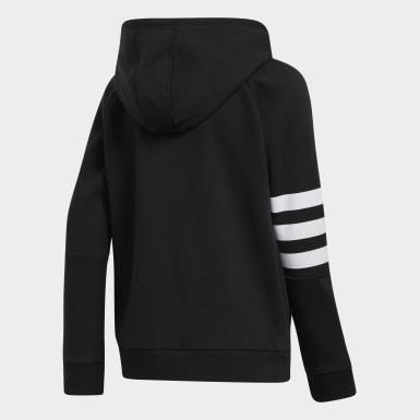 Youth Training Black 3-Stripes Hooded Jacket