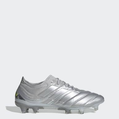 Calzado de fútbol Copa 20.1 Terreno Firme Plata Hombre Fútbol