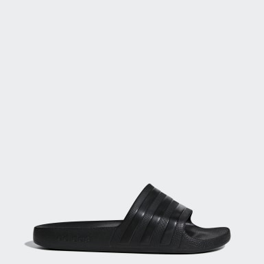 Yoga Black Adilette Aqua Slides