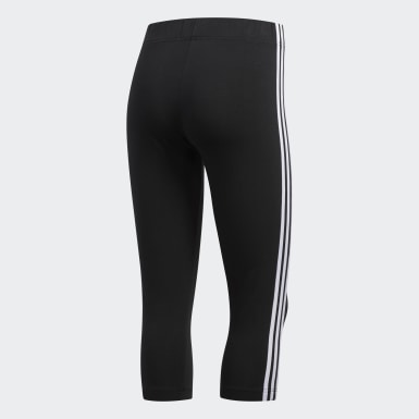 Women Training Black 3-Stripes 3/4 Tights