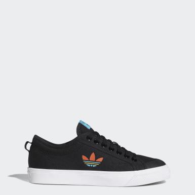 Originals สีดำ รองเท้า Nizza Trefoil