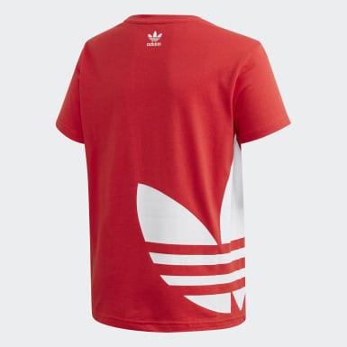 T-shirt Big Trefoil Rosso Bambini Originals