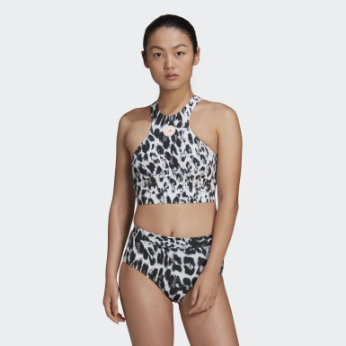 Dames adidas by Stella McCartney Wit TruePurpose Bikinitopje