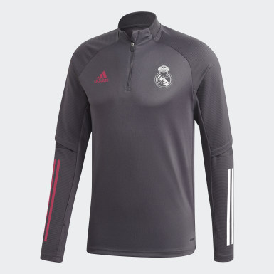 Men Football Grey Real Madrid Training Top
