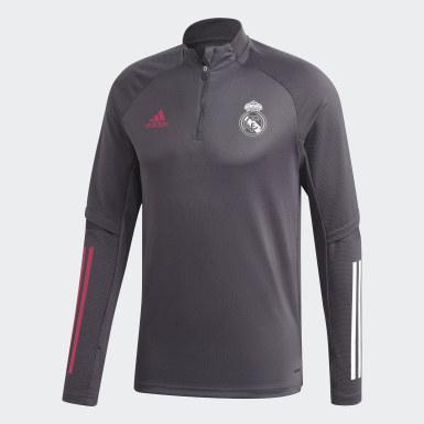 Männer Fußball Real Madrid Trainingsoberteil Grau
