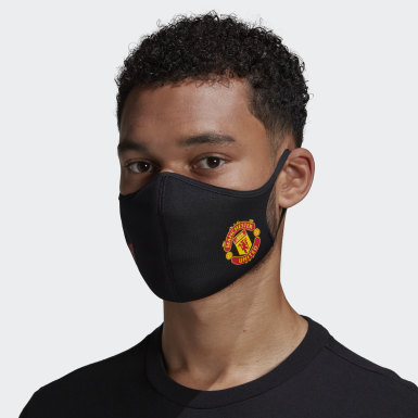 Athletics Black Manchester United Face Covers M/L 3-Pack