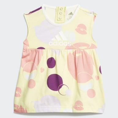 Mädchen Training Style Sommer-Set Gelb