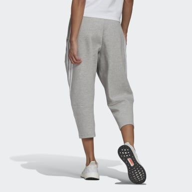 Women Athletics Grey adidas Sportswear Z.N.E. Wrapped 3-Stripes 7/8 Pants