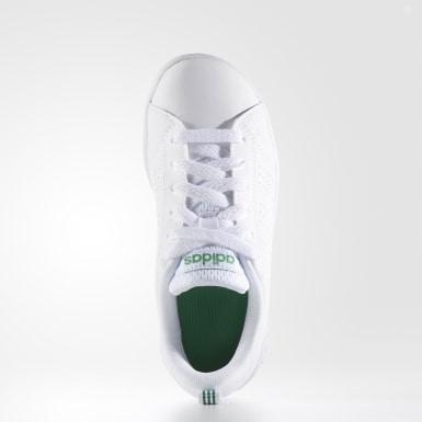 Children Sport Inspired White VS Advantage Clean Shoes